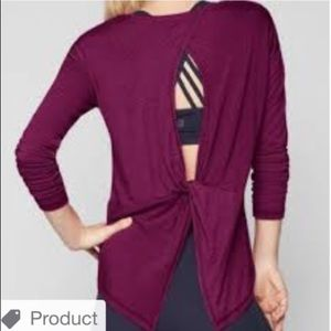 Athleta Essence Twist Long Sleeve Open Back Shirt